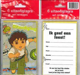 Uitnodigingskaartjes met envelop - Diego - 31-002