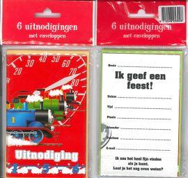 Uitnodigingskaartjes met envelop - Thomas - 31-007