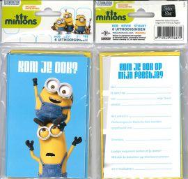 Uitnodigingskaartjes met envelop - Minions twee minions - 31-031