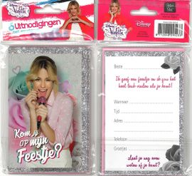31-048 Uitnodigingskaartjes met envelop - Disney Violetta