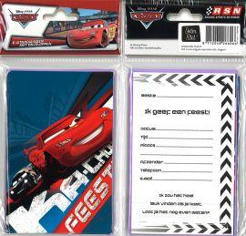 31-056 Uitnodigingskaartjes met envelop - Cars