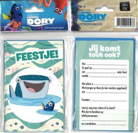 31-061 Uitnodigingskaartjes met envelop - Finding Dory