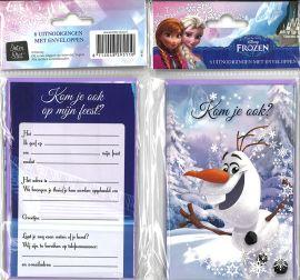 31-063 Uitnodigingskaartjes met envelop - Frozen 2