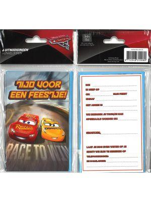 31-055 Uitnodigingskaartjes met envelop - Cars