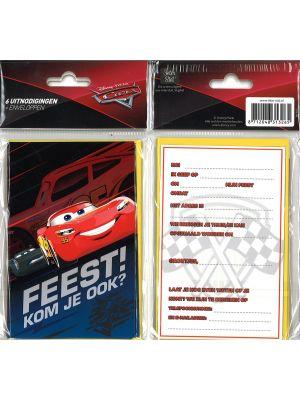 31-057 Uitnodigingskaartjes met envelop - Cars