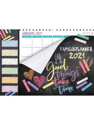 80-010 B Familieplanner XL Krijtbord Tekst 2021