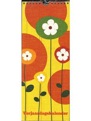 80-153 Verjaardagskalender flower yellow