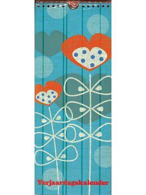80-154 Verjaardagskalender flower blue